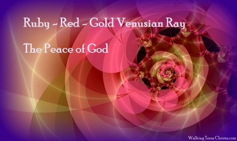 Ruby Red Gold Venusian Flame Peace